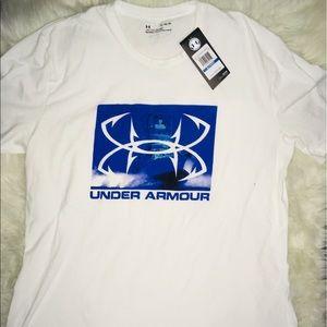 Under Armour White Short Sleeve Shirt Men's sz XL